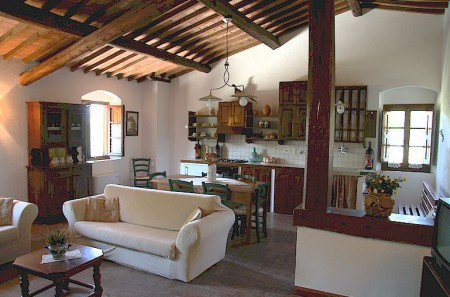 Chianti farm house for 2, 6 or 8 persons near Greve in Chianti, Tuscany