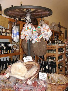 Chianti salumi and wine