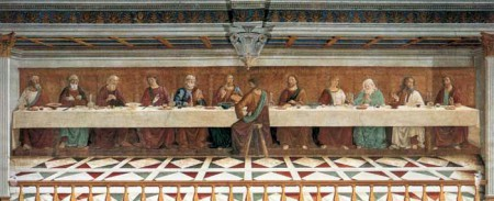 """The Last Supper"" by Domenico and Davide Ghirlandaio"
