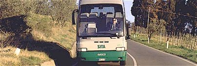 SITA bus in Tuscany