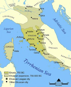 Etruscan civilisation map