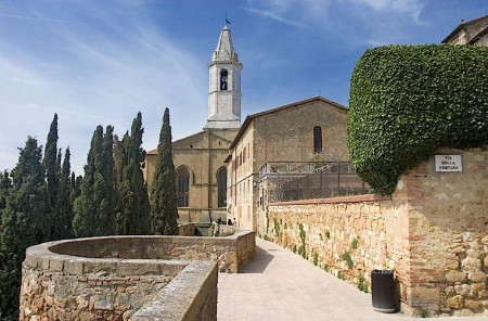 Pienza in the Val d'Orcia of Tuscany, Italy