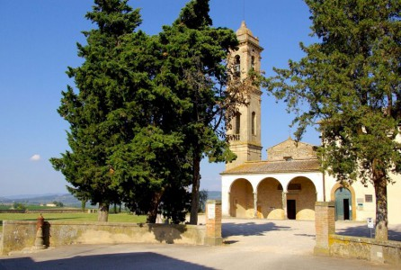 The parish church (pieve) of San Pietro in Bossolo near Tavarnelle