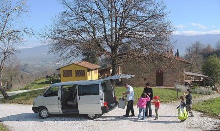 NCC taxi transfer in Tuscany