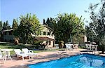 Country vacation apartments with pool near Montefioralle in Tuscany