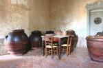 antique terracotta olive oil jars