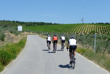 bicycling in Chianti