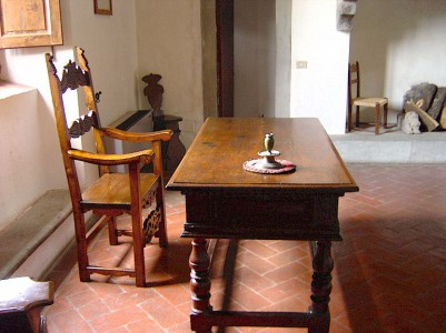 Machiavelli's desk in his study at his Albergaccio