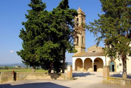 The parish church (pieve) of San Pietro in Bossolo near Tavarnelle