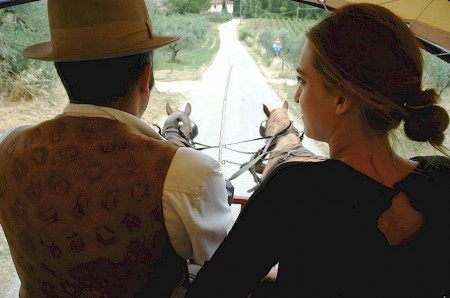 a horse and carriage outing in Tuscany